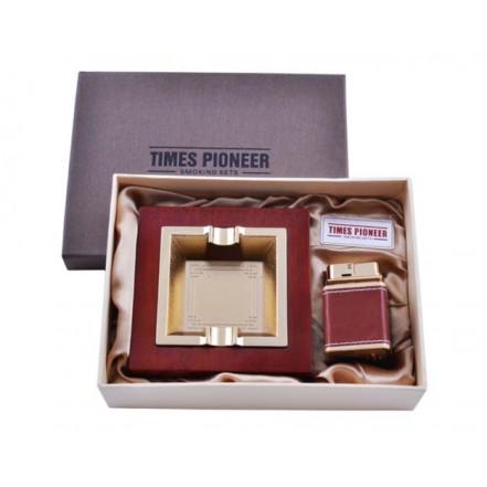 Подарочный набор Pioneer 2в1 Пепельница и зажигалка 3623
