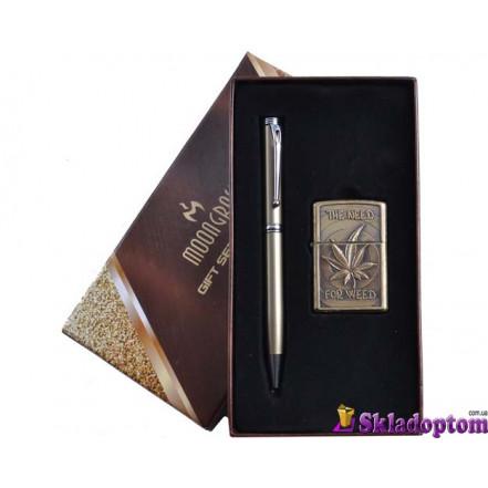 Подарочный набор ручка, зажигалка AL-306-1