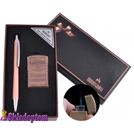 Подарочный набор ручка, зажигалка BX-002C-1 (Острое пламя)
