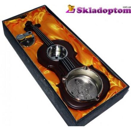 Пепельница с зажигалкой Скрипка 1350