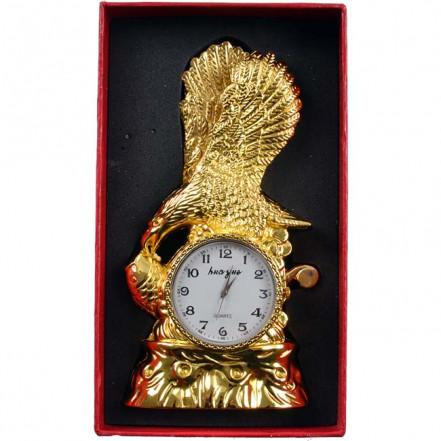Зажигалка настольная с часами Орёл 4371 (Золото)