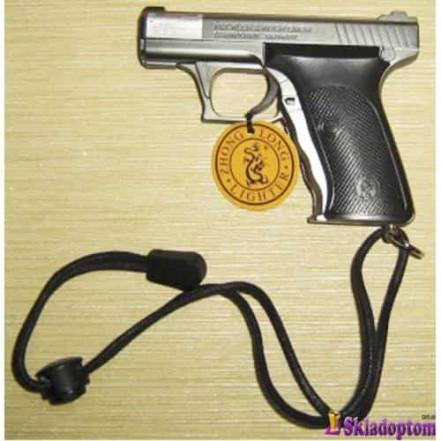 Зажигалка с лазером в виде пистолета 3982