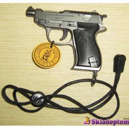 Зажигалка с лазером в виде пистолета 3983