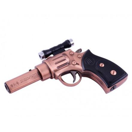 Зажигалка пистолет 4424 (с лазером)