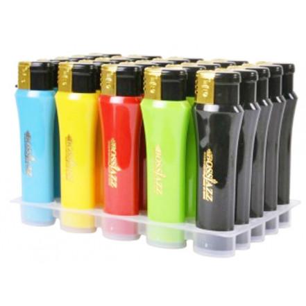 Зажигалка пластиковая (турбо пламя) глянец цветная  900S