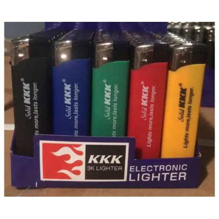 Зажигалка пластиковая обычное пламя 156S KKK (резина цветная)