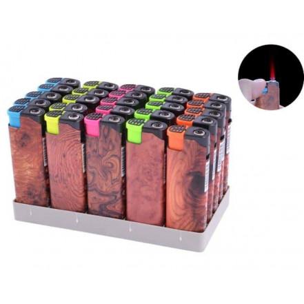 Зажигалка пластиковая (турбо пламя) Дерево 505-9