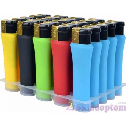 Зажигалка (турбо пламя) резина цветная 900XPQ