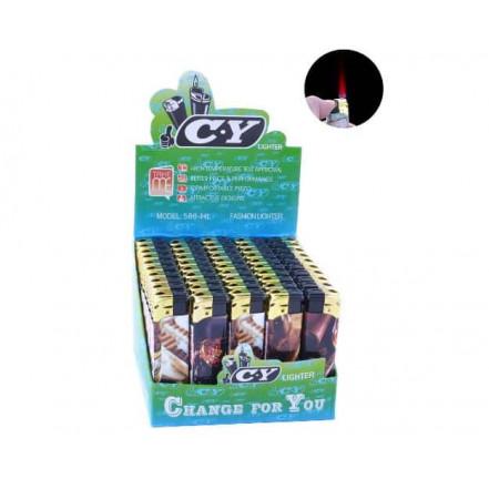 Зажигалка газовая пластиковая Сигары 588-32 (турбо пламя)