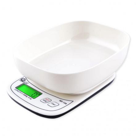 Весы кухонные QZ-158A, 10кг (1г), чаша