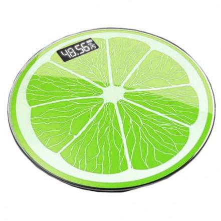 Весы напольные 2003A фрукты, 180кг (50г), температура
