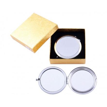 Зеркало в подарочной упаковке, двухстороннее 538-7 (Чистое под гравировку)