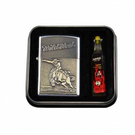 Зажигалка бензиновая в подарочной упаковке 3858-7 Wold West