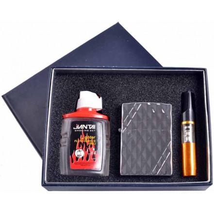 Подарочный набор 3в1 Зажигалка, бензин, мундштук 4722-1