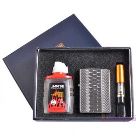 Подарочный набор 3в1 Зажигалка, бензин, мундштук 4723-1