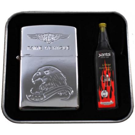 Подарочный набор 2в1 Зажигалка+бензин 3861