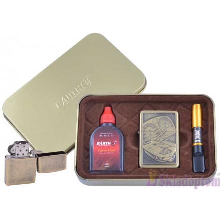 Подарочный набор 3в1 (зажигалка, бензин, мундштук) 4931-1
