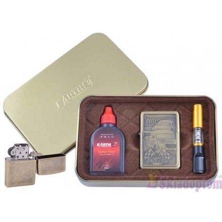 Подарочный набор 3в1 (зажигалка, бензин, мундштук) 4931-2
