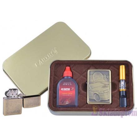 Подарочный набор 3в1 (зажигалка, бензин, мундштук) 4931-3