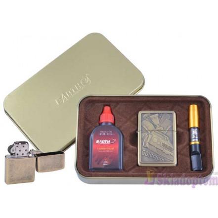 Подарочный набор 3в1 (зажигалка, бензин, мундштук) 4931-4