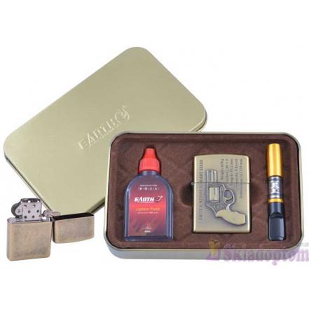"""Подарочный набор """"War"""" 3в1 (зажигалка, бензин, мундштук) 4932-3"""