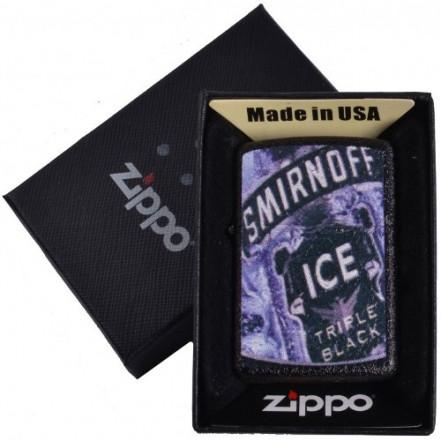 Зажигалка бензиновая Zippo в подарочной упаковке 4735-4 (SMIRNOFF)