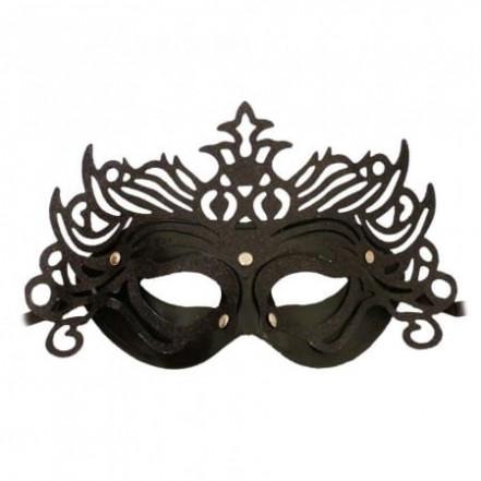 Венецианская маска Изабелла (черная)