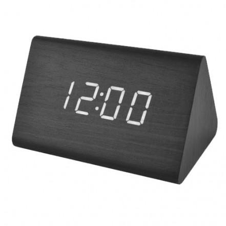 Часы сетевые VST-864-6 белые, (корпус черый), USB