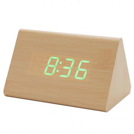 Часы сетевые VST-864-4 зеленые, (корпус желтый), USB
