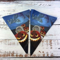 Гирлянда Хэллоуин флажки №23